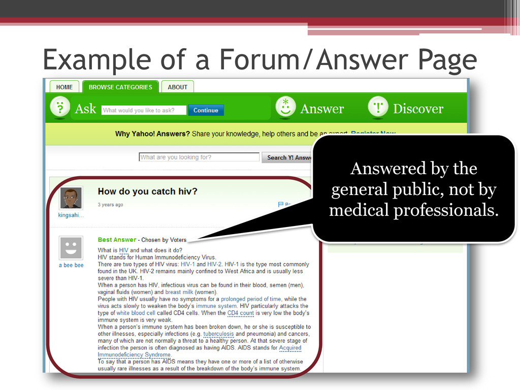 Example of a Forum/Answer Page Answered by the ...