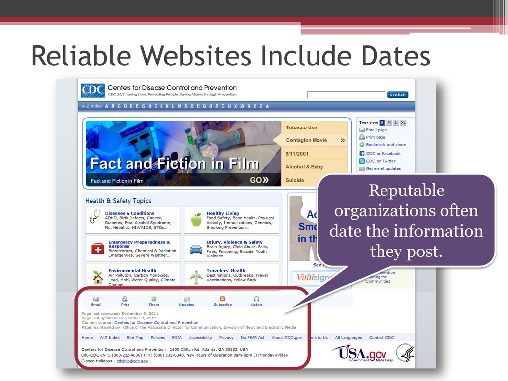 Reliable Websites Include Dates Reputable organ...