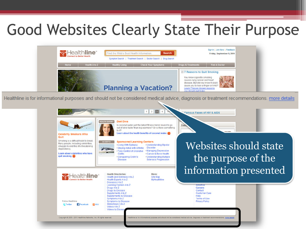 Good Websites Clearly State Their Purpose Websi...