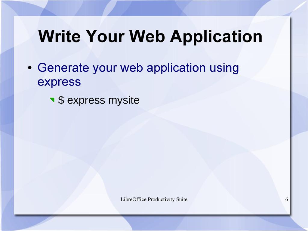 LibreOffice Productivity Suite 6 Write Your Web...