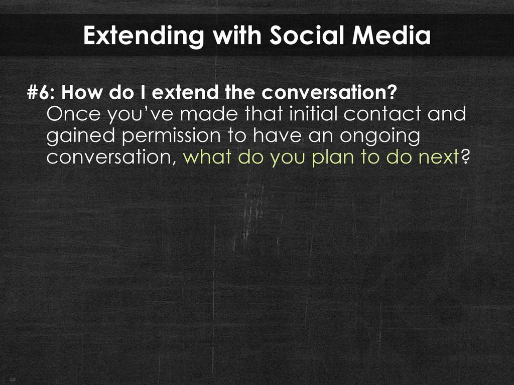 Extending with Social Media #6: How do I extend...