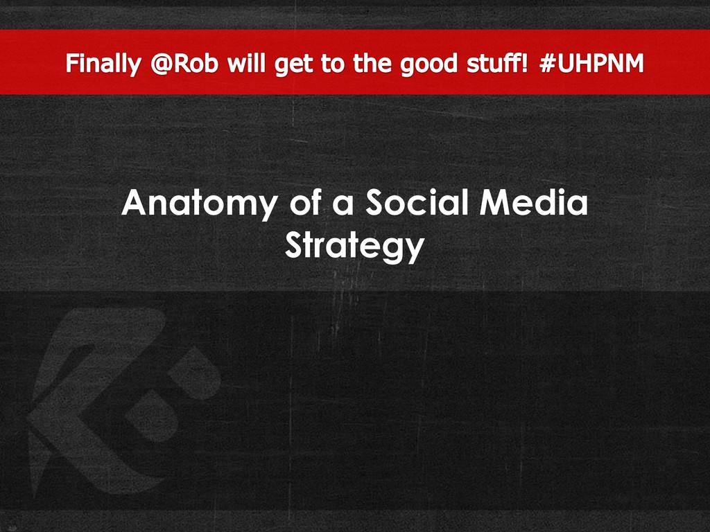 Anatomy of a Social Media Strategy