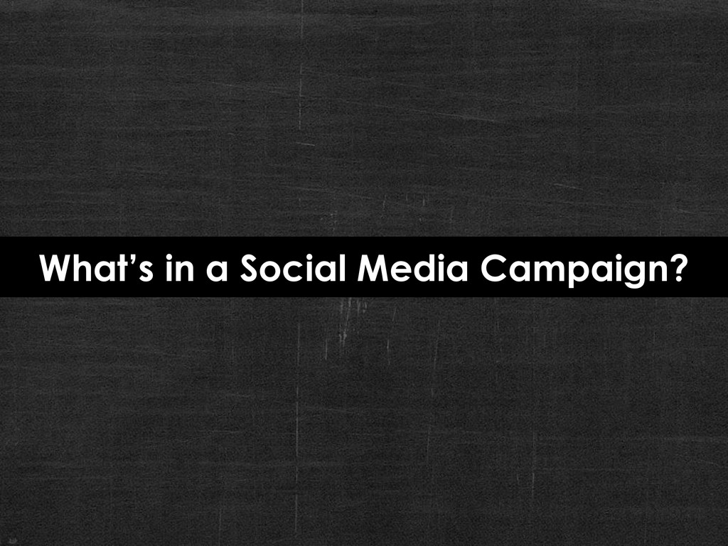 What's in a Social Media Campaign?