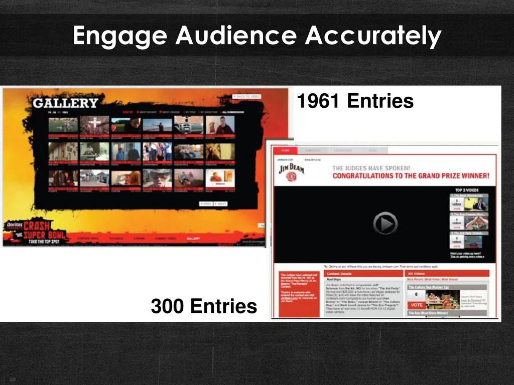 Engage Audience Accurately 1961 Entries 300 Ent...