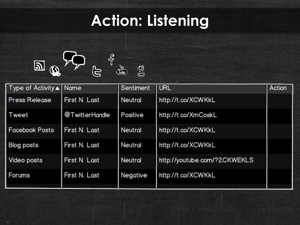 Action: Listening