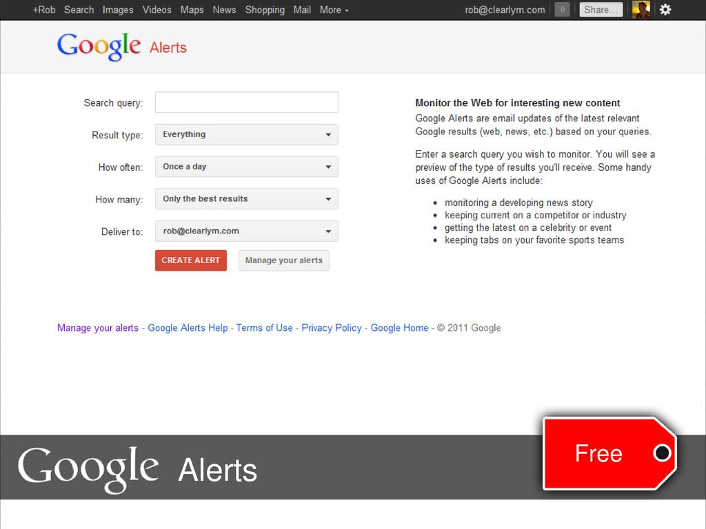 Free Alerts