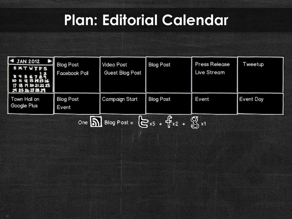 Plan: Editorial Calendar