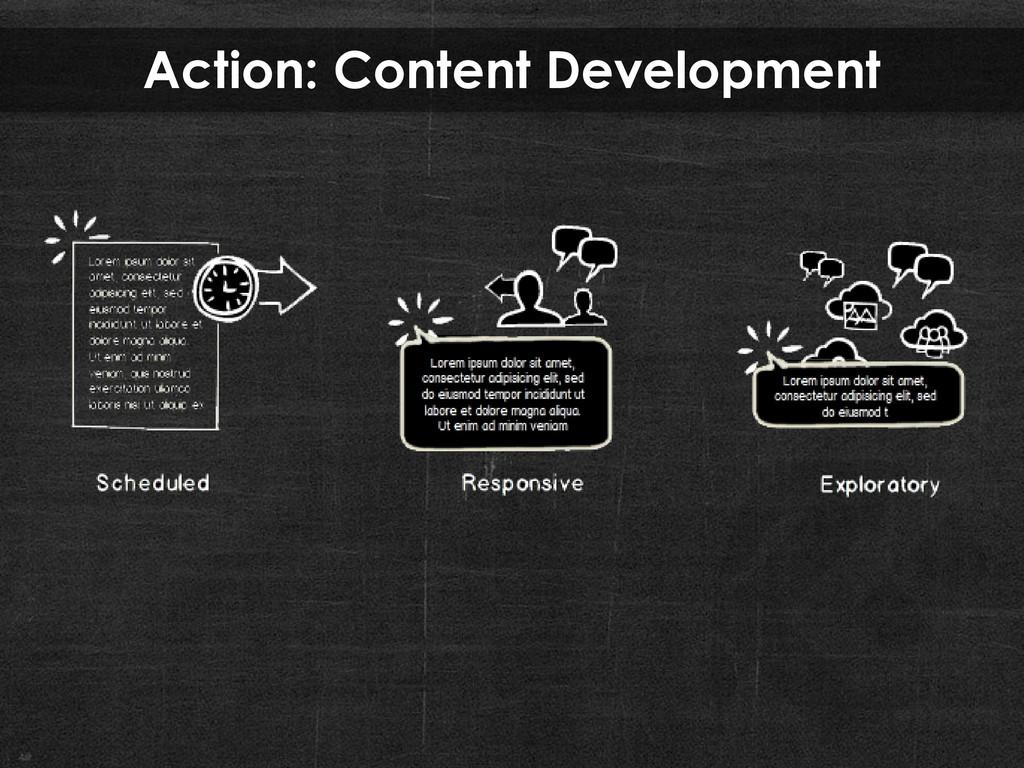 Action: Content Development