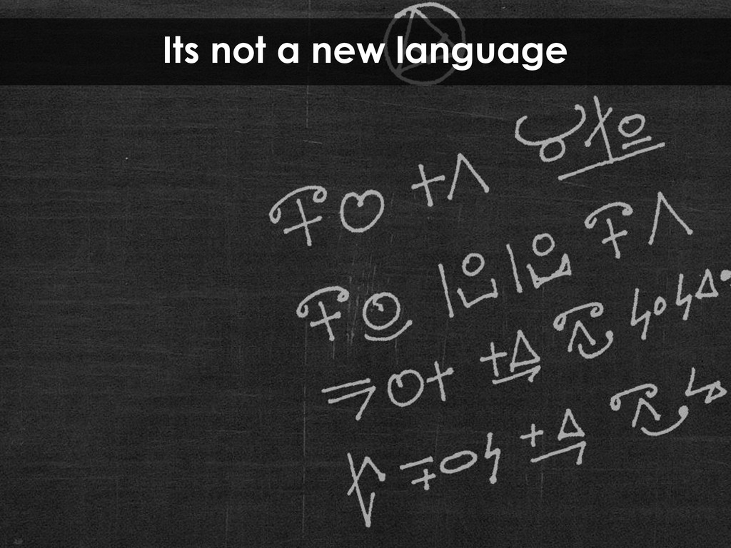 Its not a new language