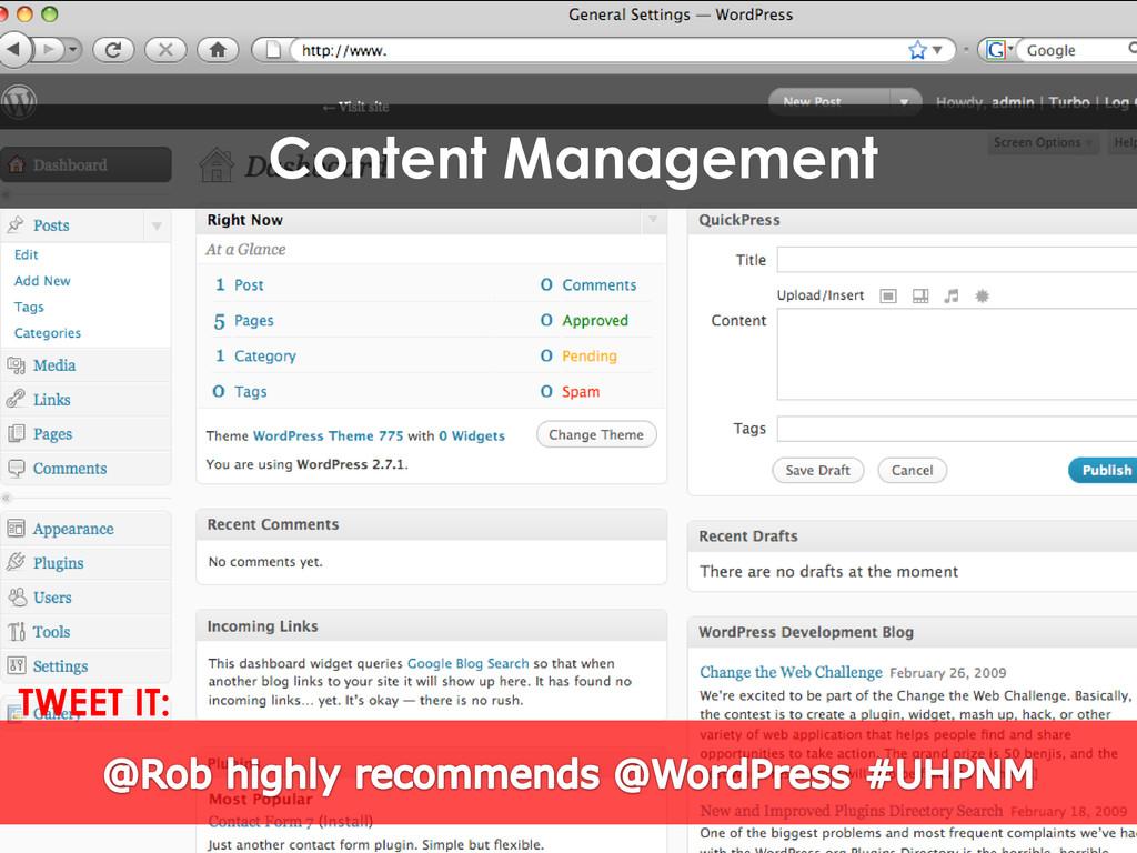 Content Management TWEET IT: