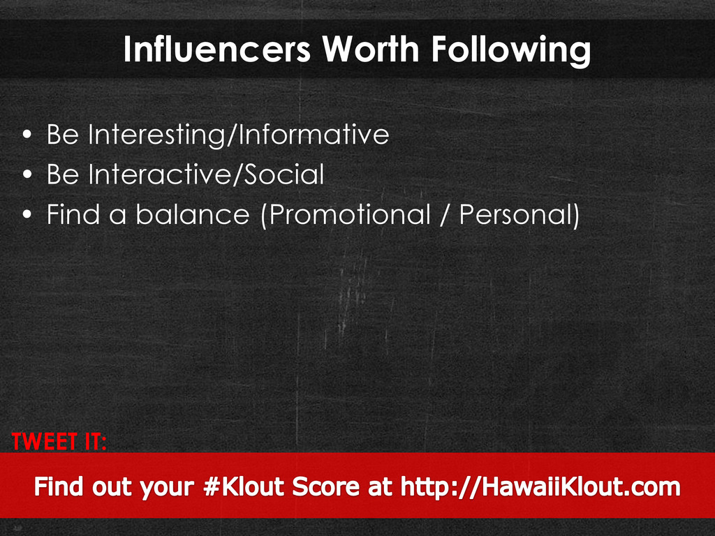Influencers Worth Following • Be Interesting/In...