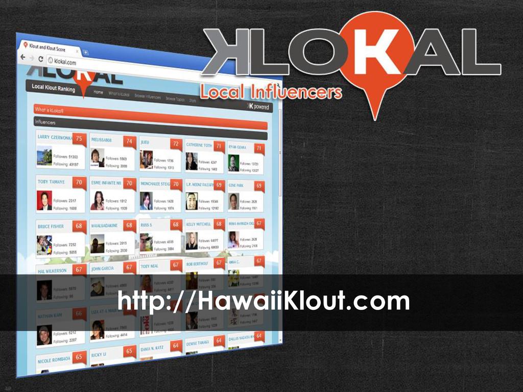 http://HawaiiKlout.com