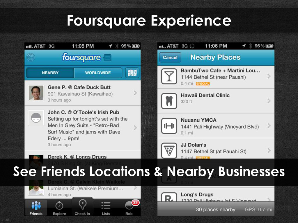 Foursquare Experience See Friends Locations & N...