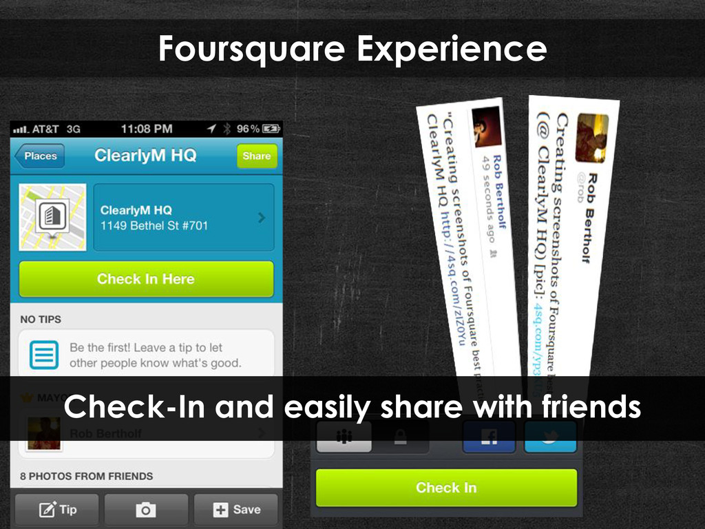 Foursquare Experience Check-In and easily share...