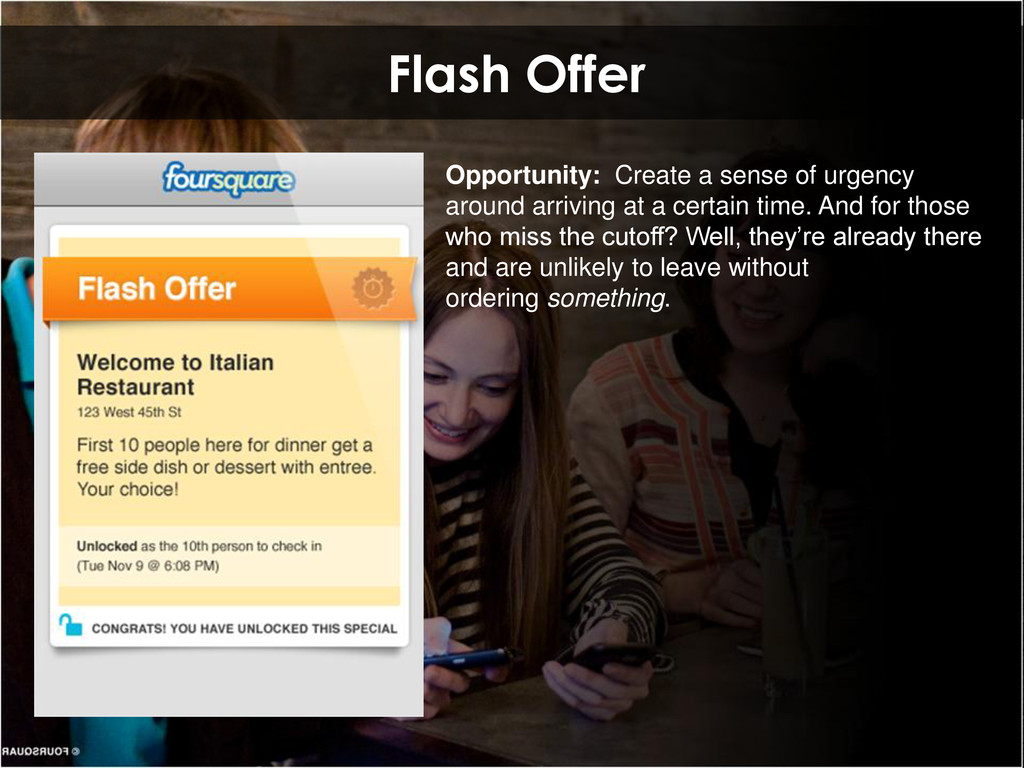Flash Offer Opportunity: Create a sense of urge...
