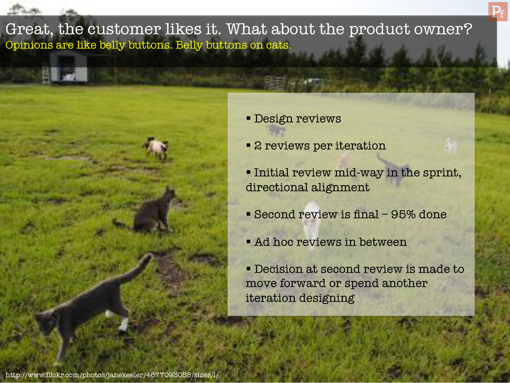 Great, the customer likes it. What about the pr...