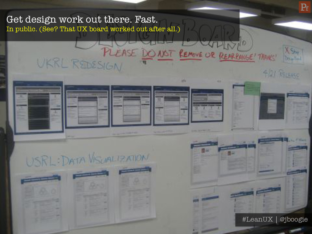 Get design work out there. Fast. In public. (S...