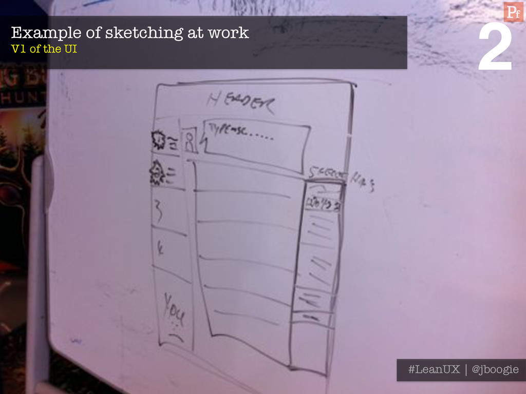 Example of sketching at work V1 of the UI #Le...