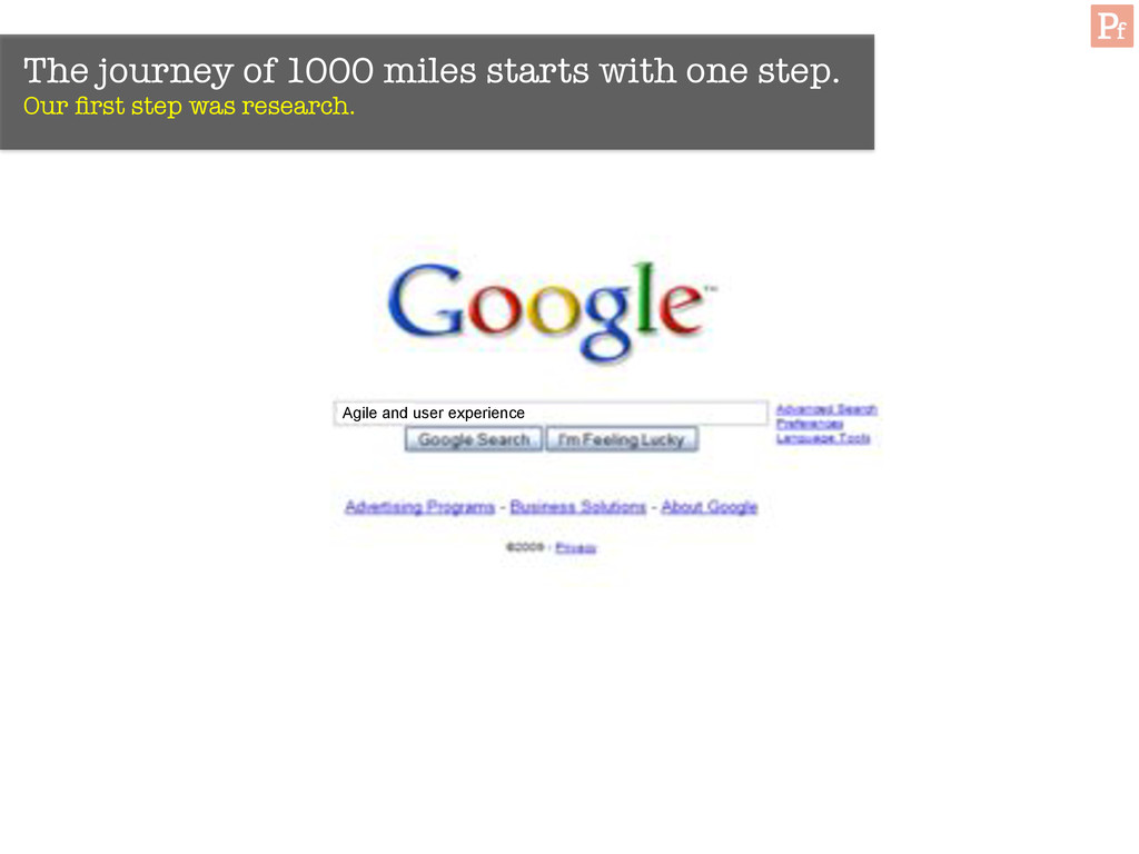 The journey of 1000 miles starts with one step....