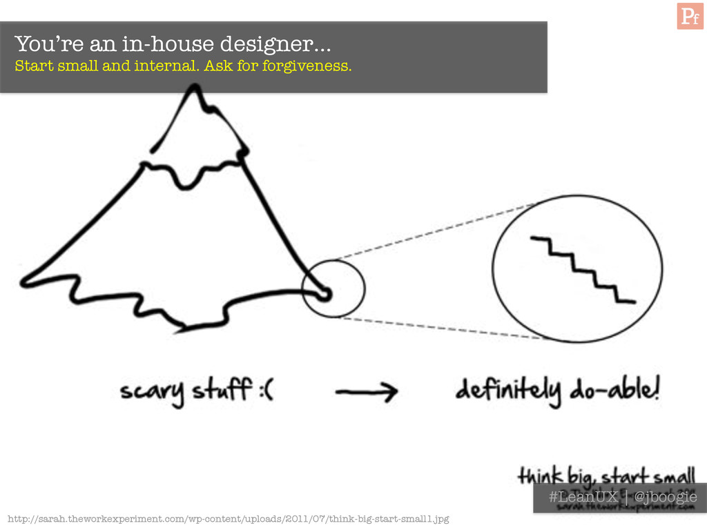 You're an in-house designer… Start small and i...