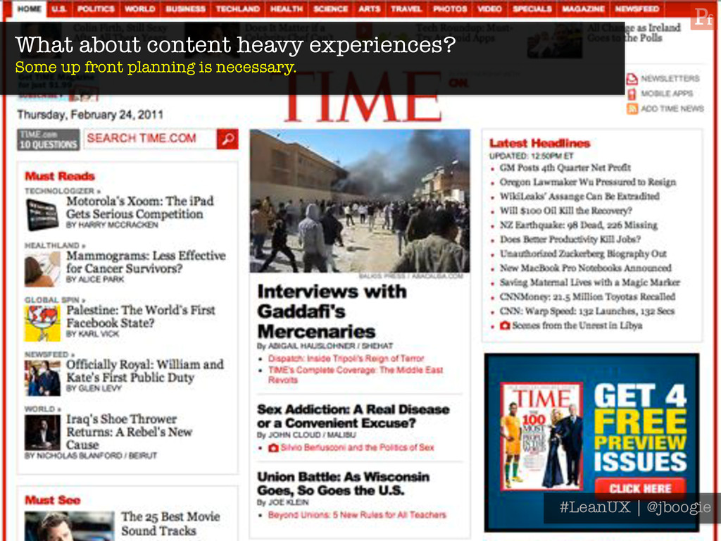 What about content heavy experiences? Some up ...