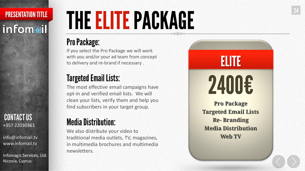 If you select the Pro Package we will work with...