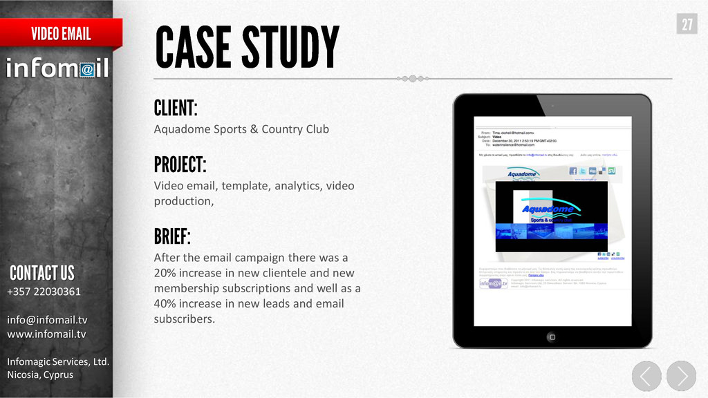 Aquadome Sports & Country Club Video email, tem...
