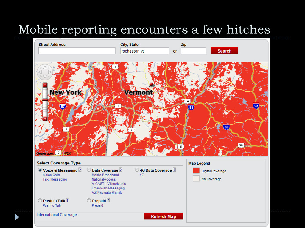 Mobile reporting encounters a few hitches