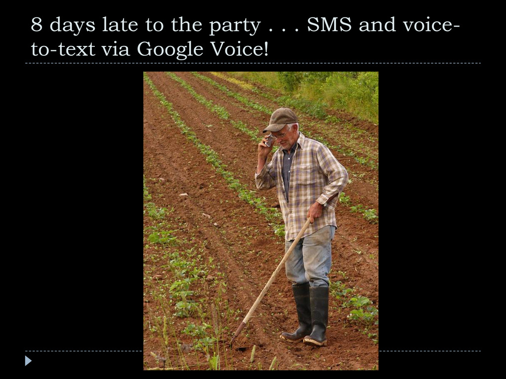8 days late to the party . . . SMS and voice- t...