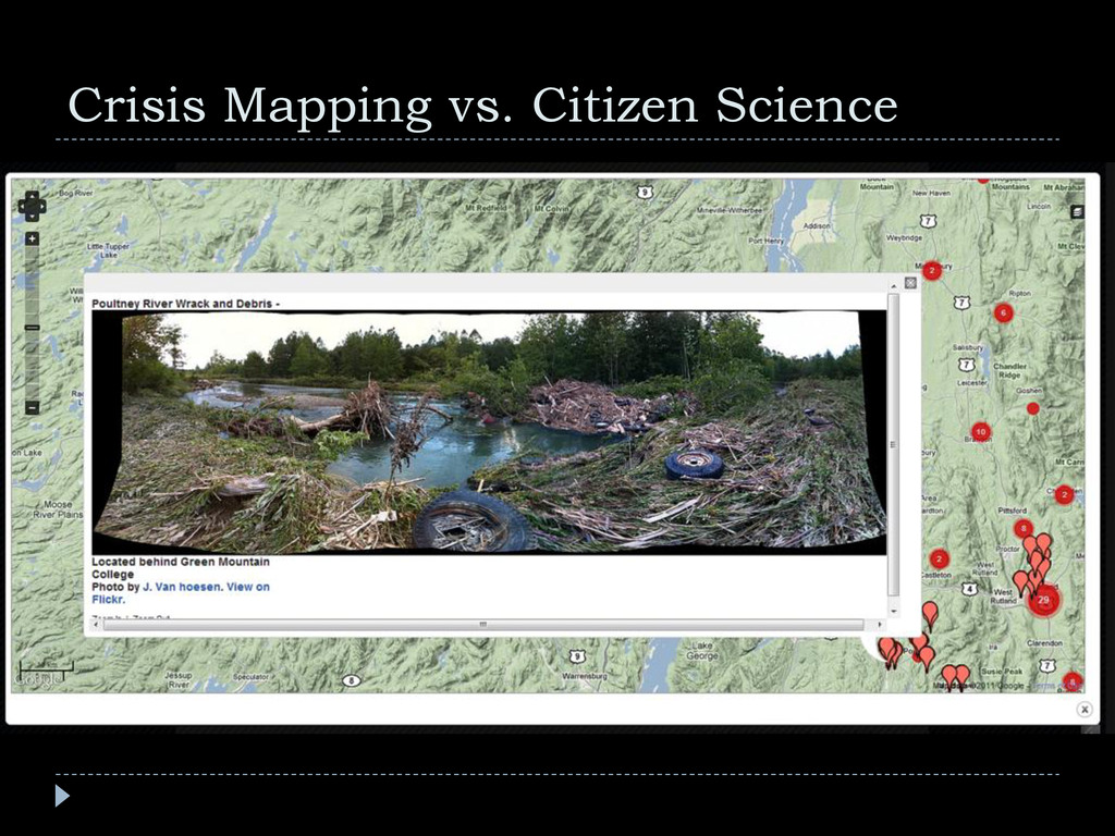 Crisis Mapping vs. Citizen Science