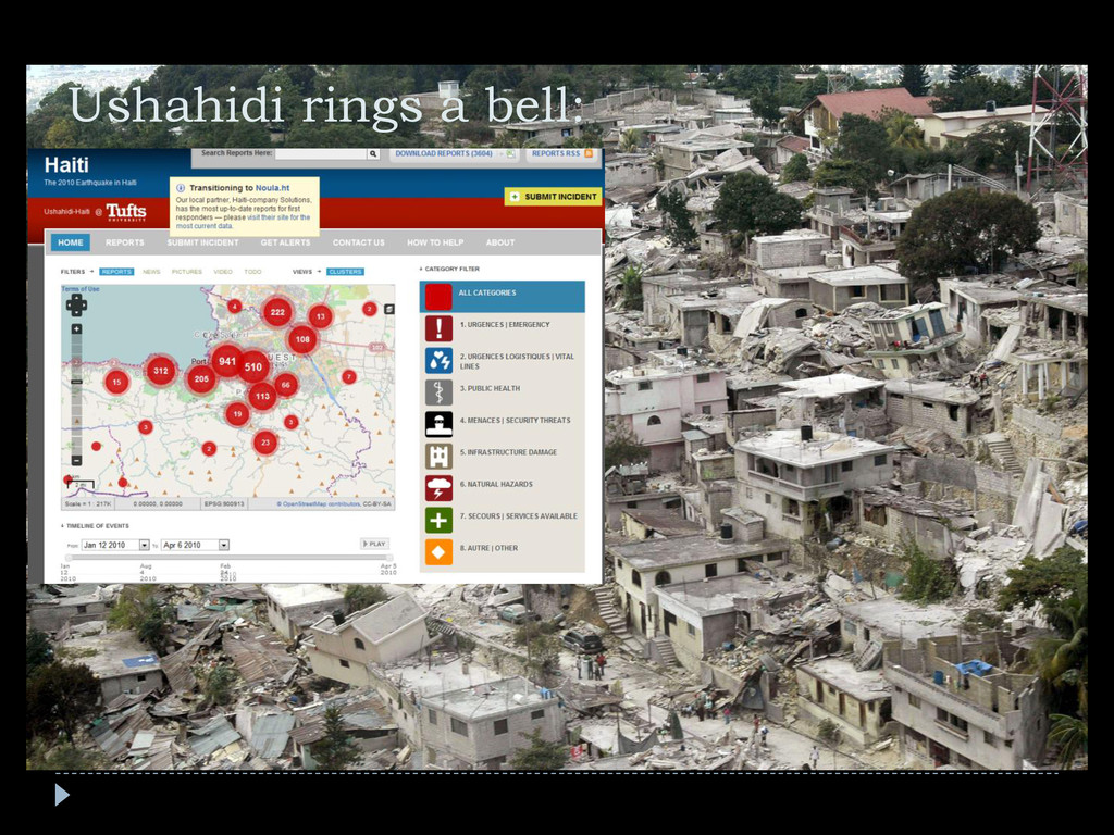 Ushahidi rings a bell: