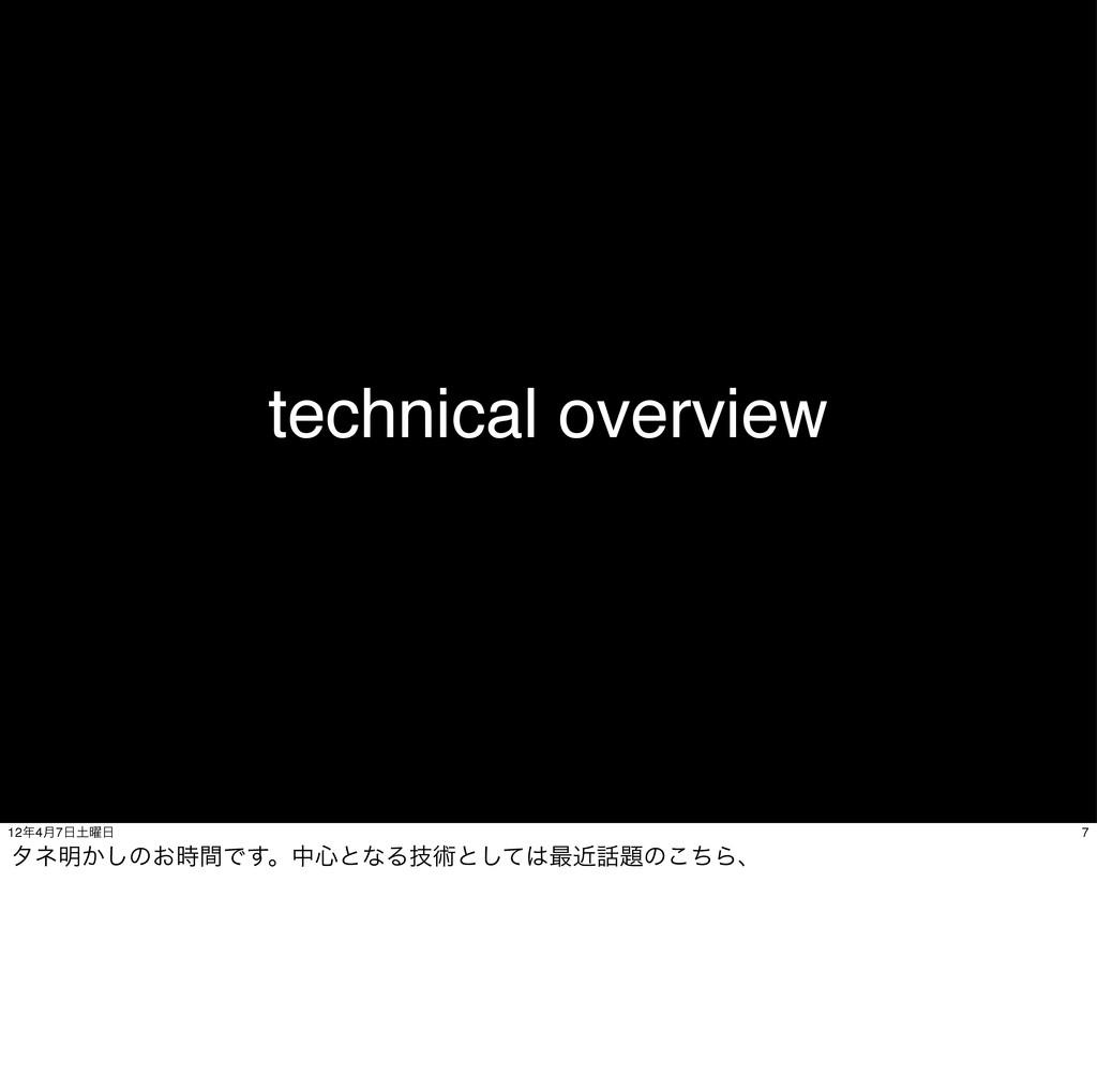 technical overview 7 124݄7༵ λω໌͔͠ͷ͓ؒͰ͢ɻத৺ͱ...