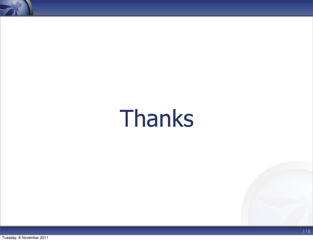 Thanks 116 Tuesday, 8 November 2011