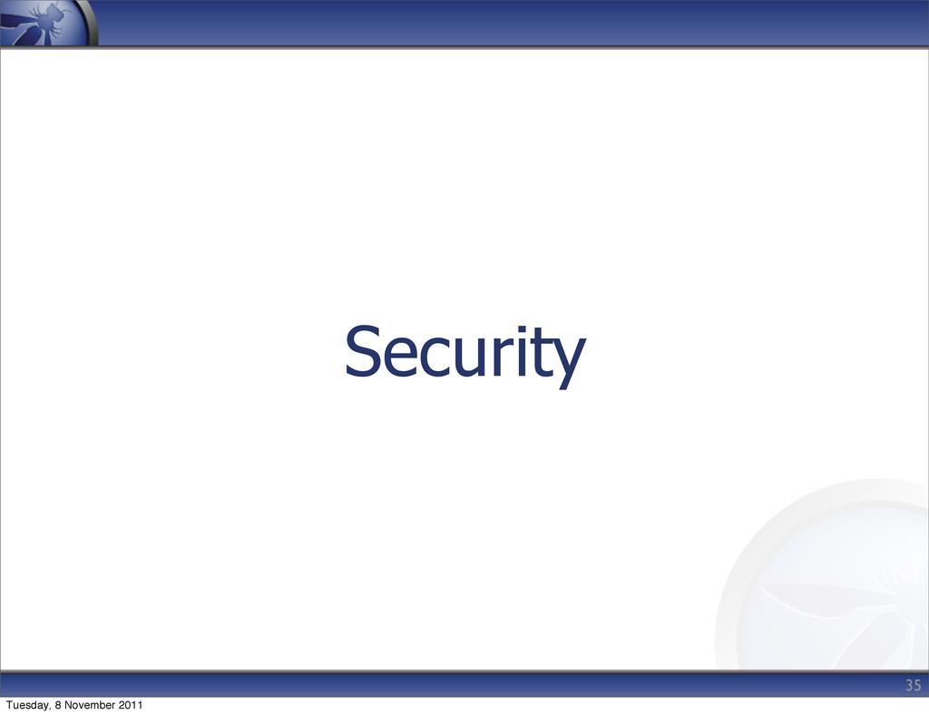 Security 35 Tuesday, 8 November 2011
