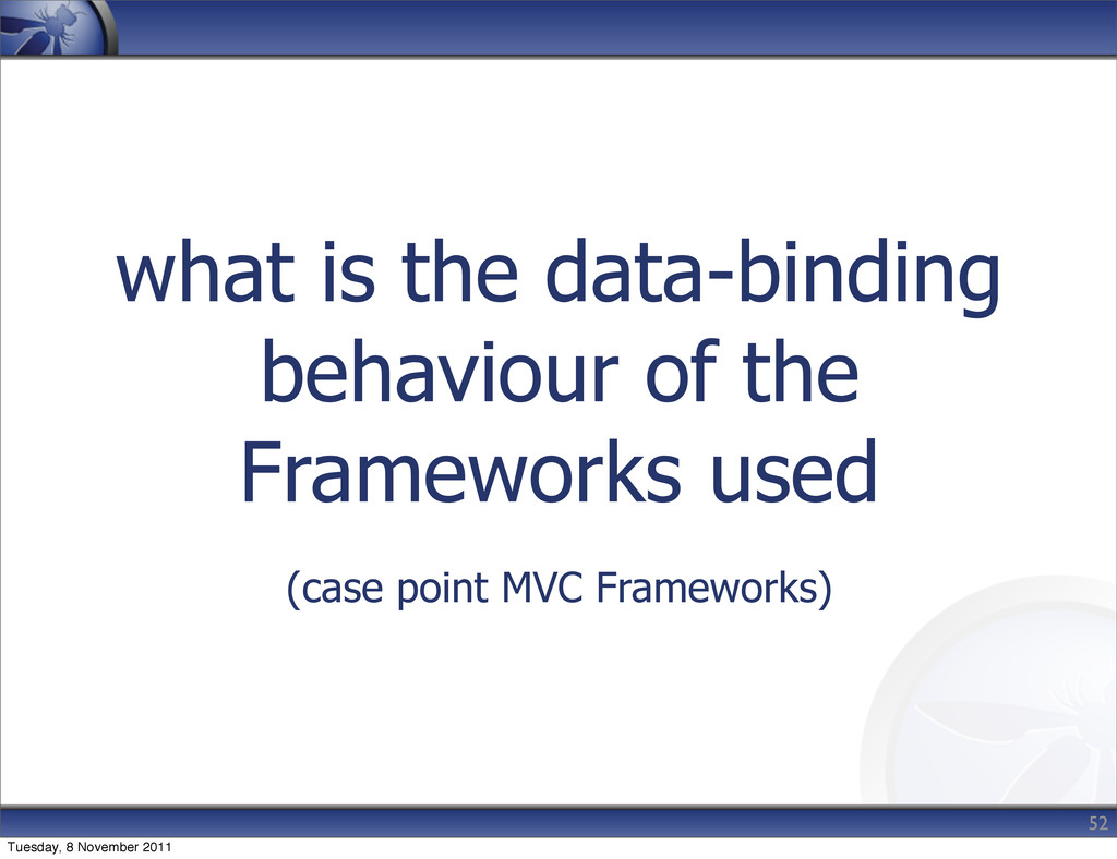 what is the data-binding behaviour of the Frame...