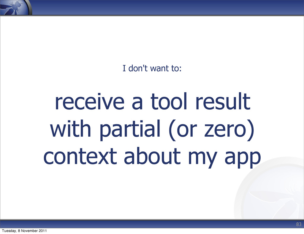 receive a tool result with partial (or zero) co...