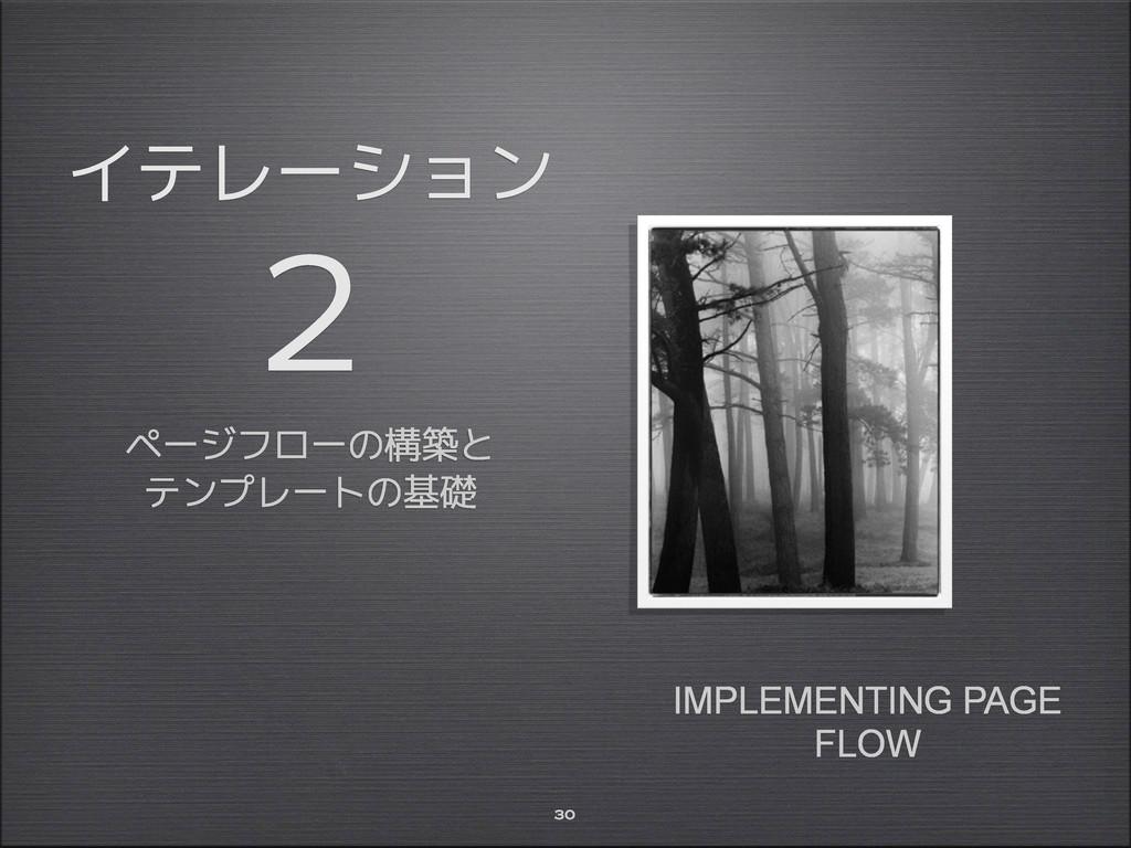 イテレーション 2 ページフローの構築と テンプレートの基礎 30 IMPLEMENTING ...
