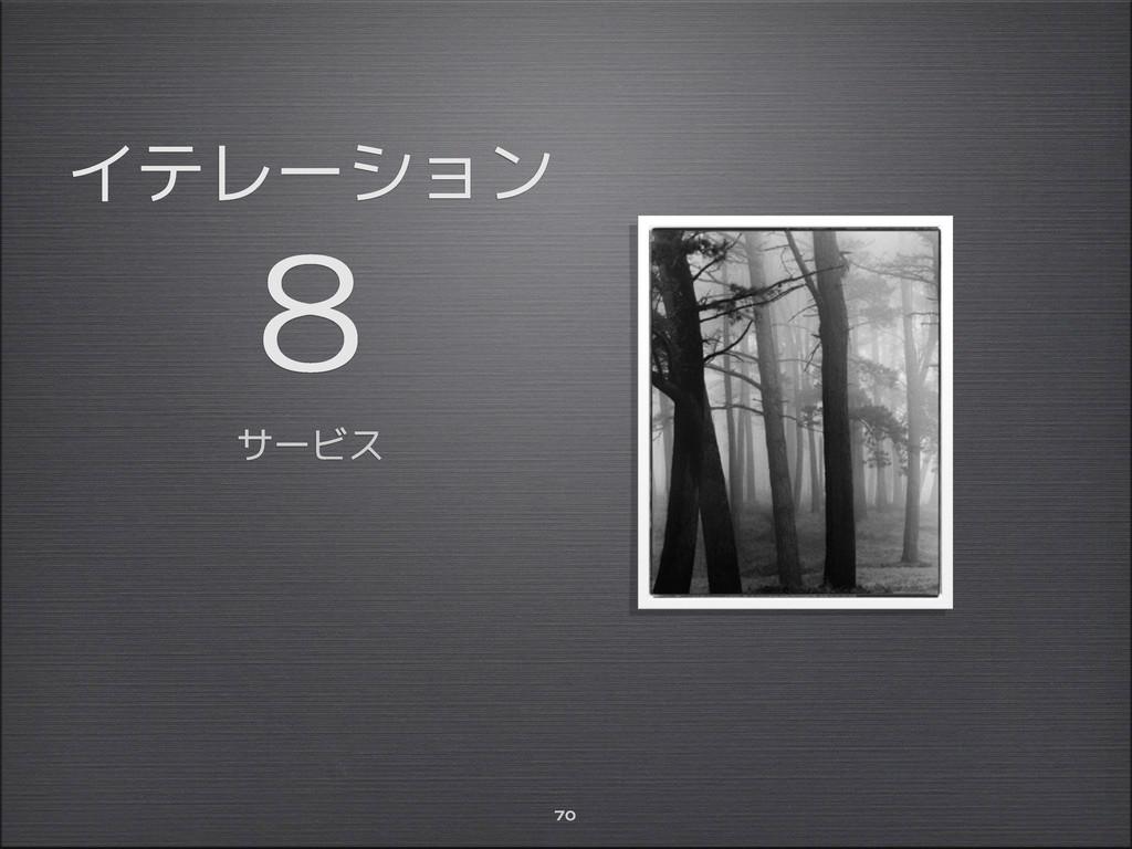 イテレーション 8 サービス 70
