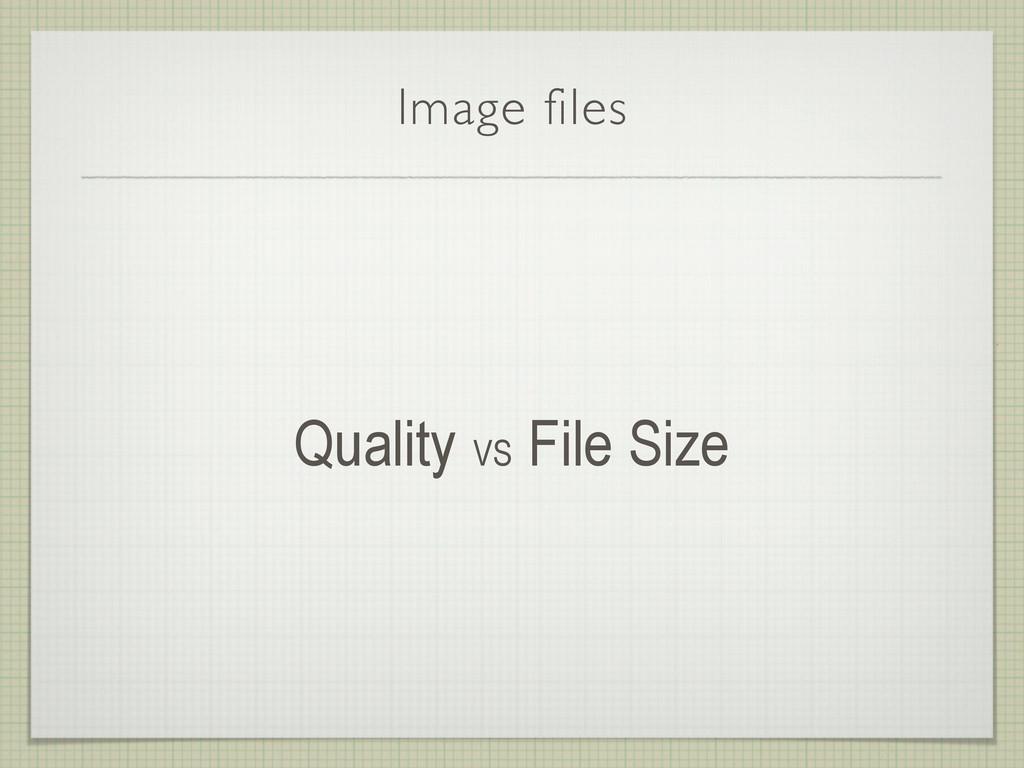 Image files Quality VS File Size