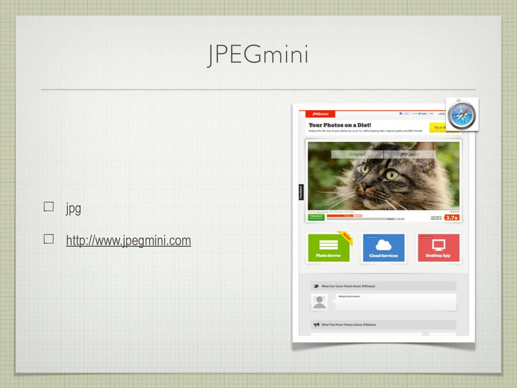 JPEGmini jpg http://www.jpegmini.com