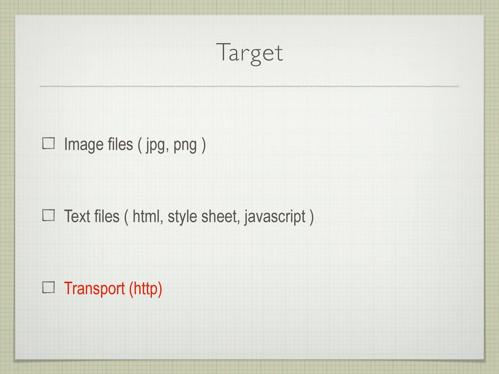 Target Image files ( jpg, png ) Text files ( ht...