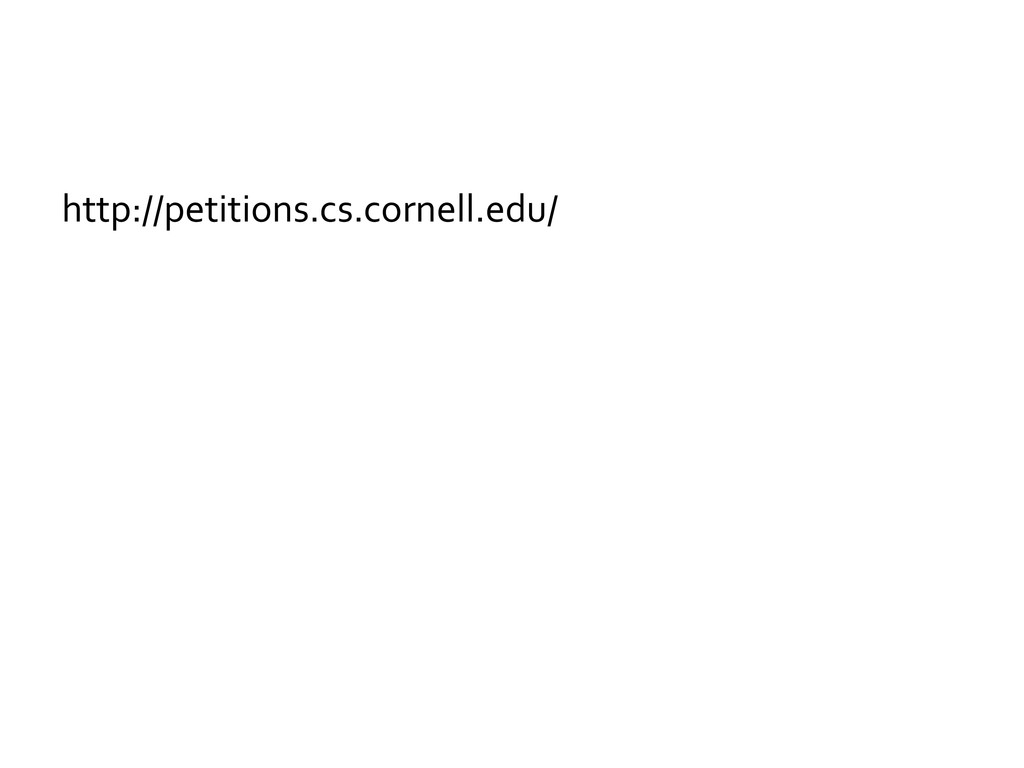 http://petitions.cs.cornell.edu/