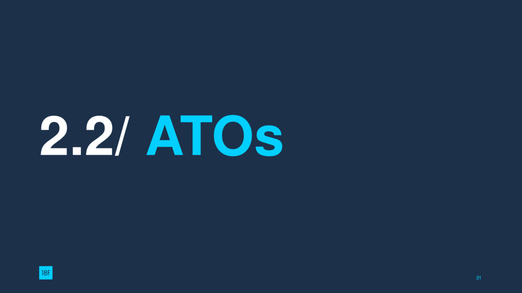 2.2/ ATOs 21