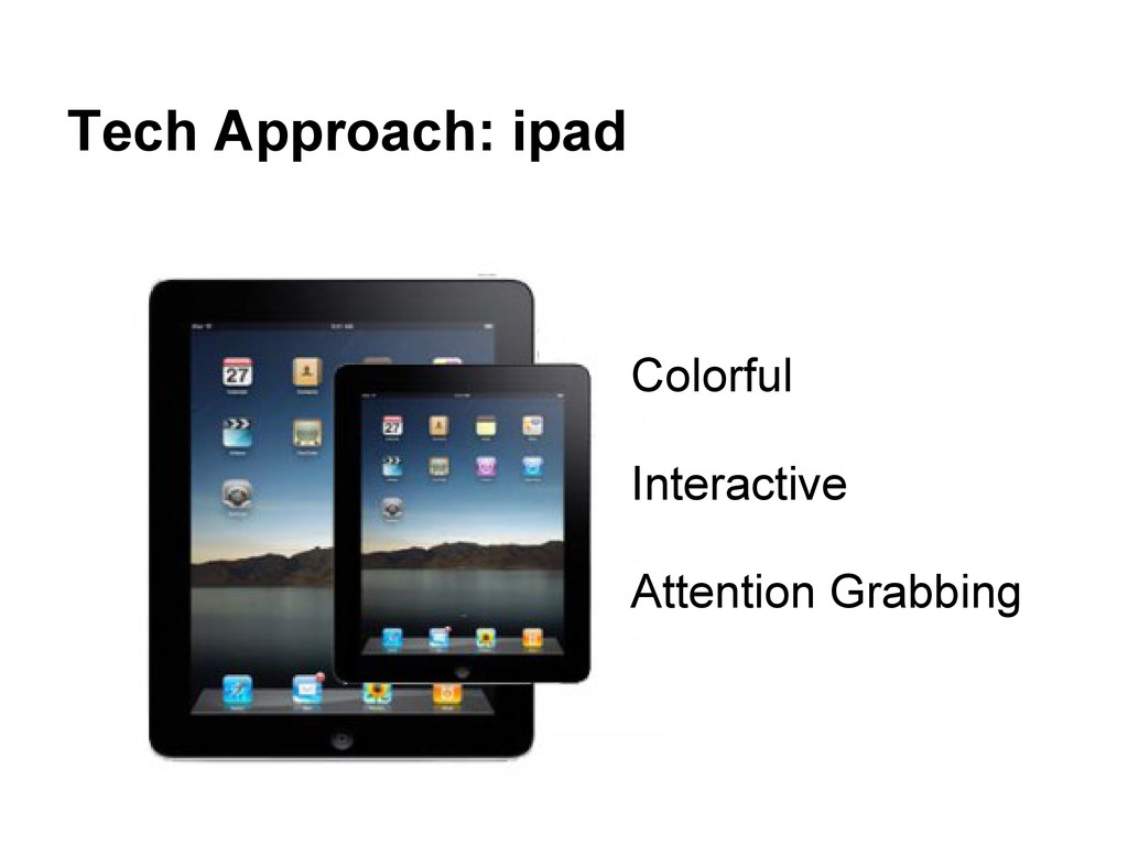 Tech Approach: ipad Colorful Interactive Attent...