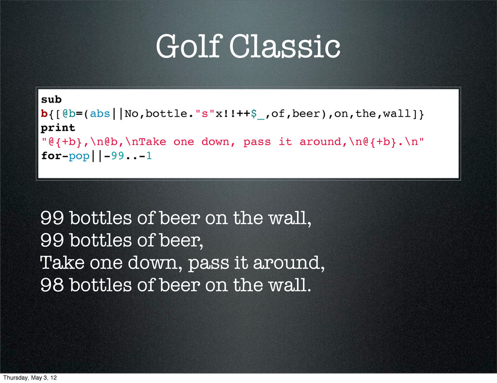 "Golf Classic sub b{[@b=(abs||No,bottle.""s""x!!++..."