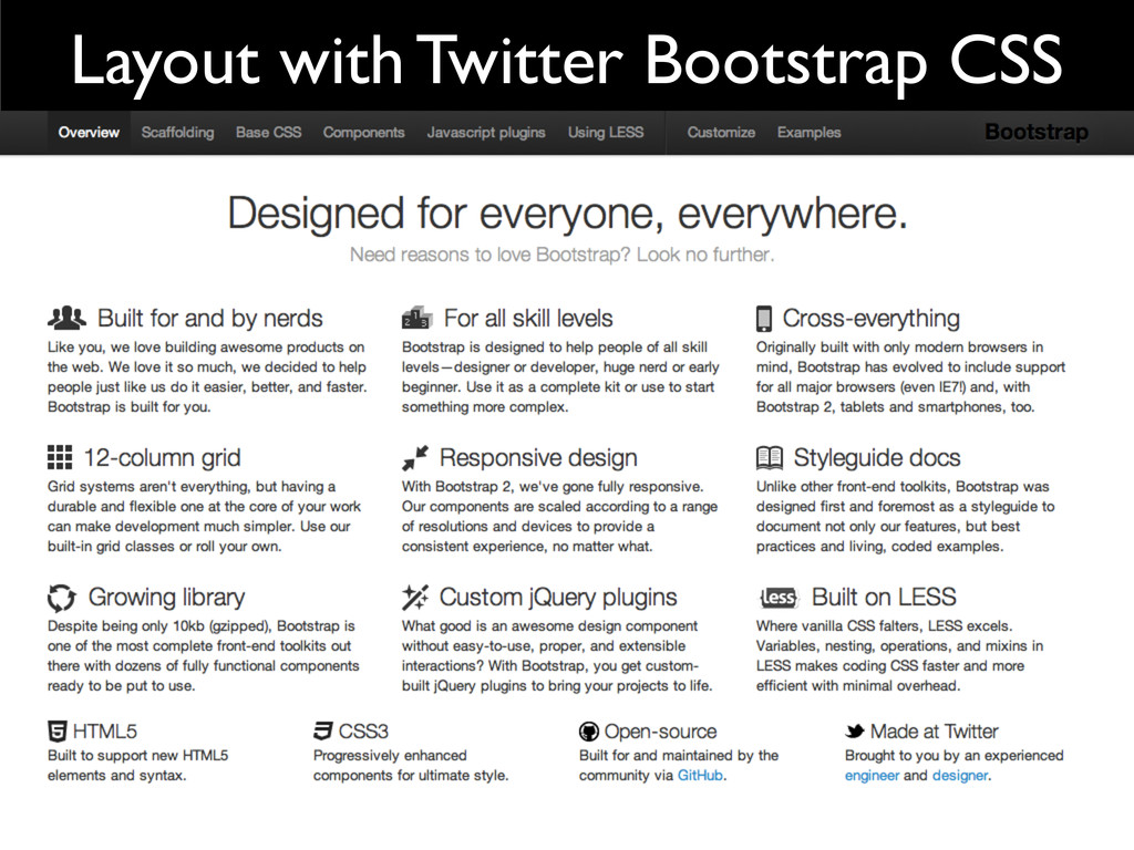 Layout with Twitter Bootstrap CSS