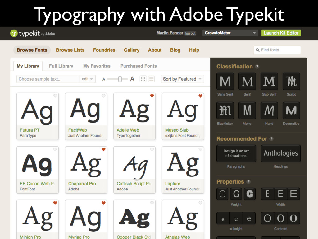 Typography with Adobe Typekit