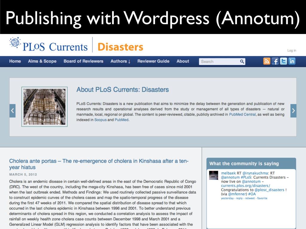 Publishing with Wordpress (Annotum)