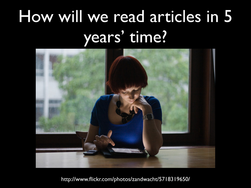 How will we read articles in 5 years' time? htt...