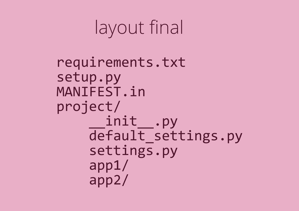 layout final requirements.txt setup.py MANIFEST....